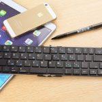【本体重量200g以下!】持ち運びに便利な折りたたみ式ワイヤレスキーボード